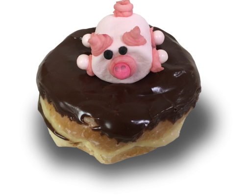 Pig-in-Mud-donut-which-is-a-raised-donut-filled-with-Colorado-Creme-(commonly-known-as-Bavarian-Creme),-chocolate-frosting-and-a-decorated-pink-marshmallow-pig-on-top
